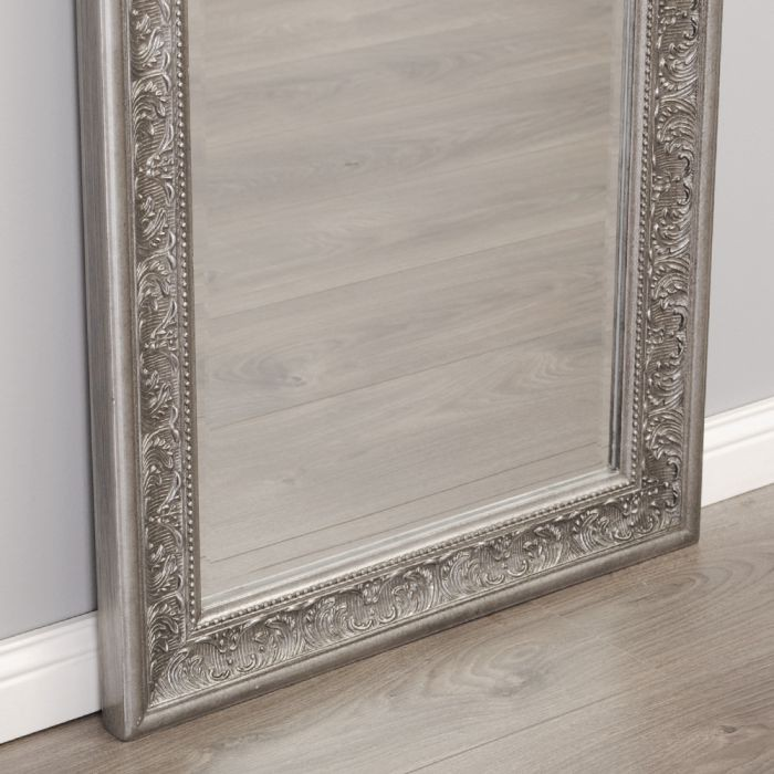 spiegel fiora barock antik silber 170x60cm 5236. Black Bedroom Furniture Sets. Home Design Ideas
