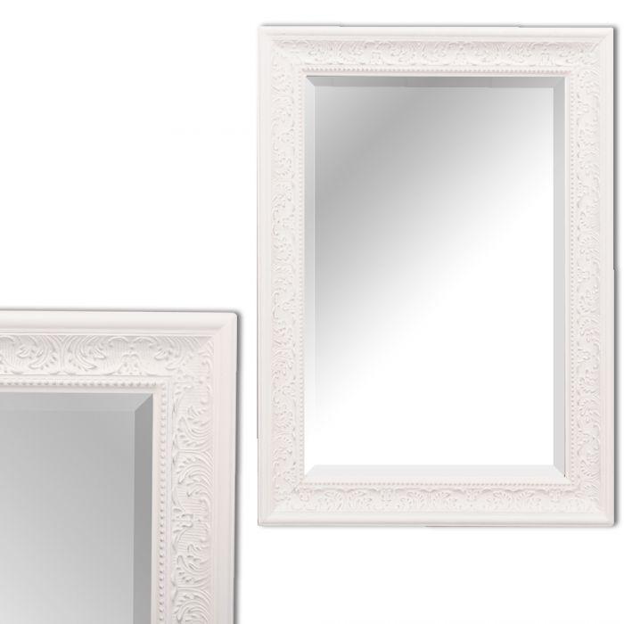 spiegel fiora barock wei silber 90x70cm 5237. Black Bedroom Furniture Sets. Home Design Ideas