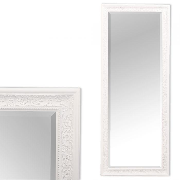 wandspiegel fiora barock spiegel 130x50cm weiss silber. Black Bedroom Furniture Sets. Home Design Ideas