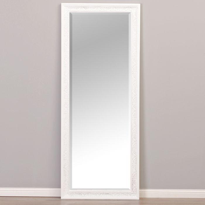 spiegel fiora barock wei silber 130x50cm 5239. Black Bedroom Furniture Sets. Home Design Ideas