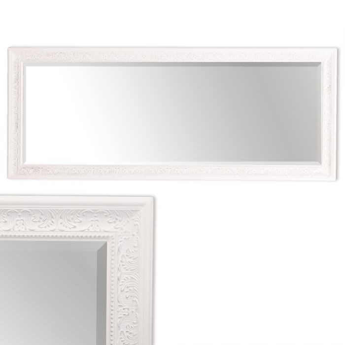 spiegel fiora barock wei silber 150x60cm 5240. Black Bedroom Furniture Sets. Home Design Ideas