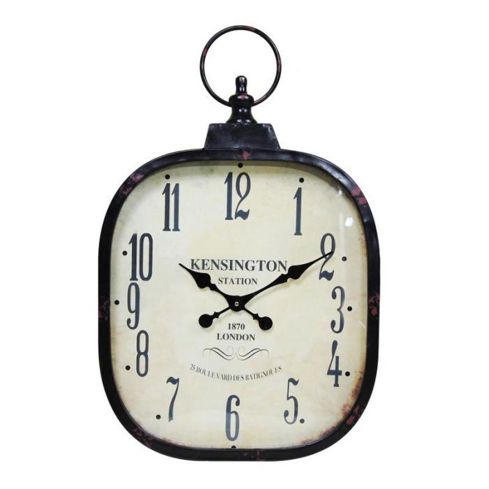 gro e wanduhr im vintage design kensington station 1870 uhr wohnzimmeruhr antik ebay. Black Bedroom Furniture Sets. Home Design Ideas