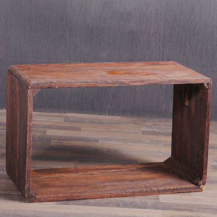 massivholz couchtisch cube leolo 80cm rustic brown 5262. Black Bedroom Furniture Sets. Home Design Ideas