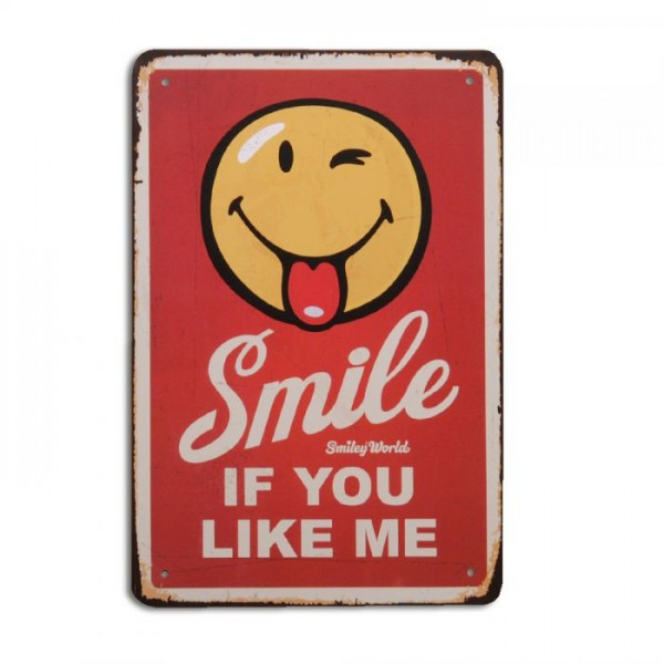 Metallschild IF YOU LIKE ME Vintage Schild im Retro-Design