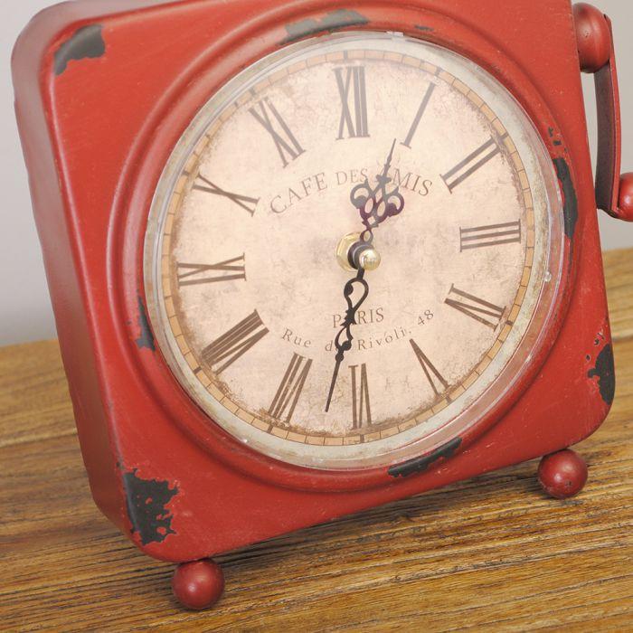 design metall tischuhr telefon phone uhr retro b ro arbeitstisch antik vintage ebay. Black Bedroom Furniture Sets. Home Design Ideas