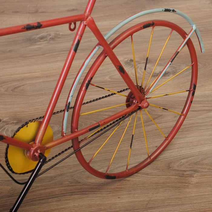 vintage standuhr xl fahrrad bike aus metall im retro. Black Bedroom Furniture Sets. Home Design Ideas