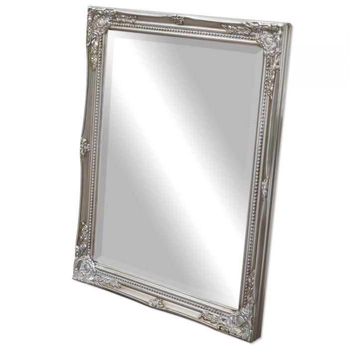 spiegel gracy barock antik silber 50x40cm 5458. Black Bedroom Furniture Sets. Home Design Ideas
