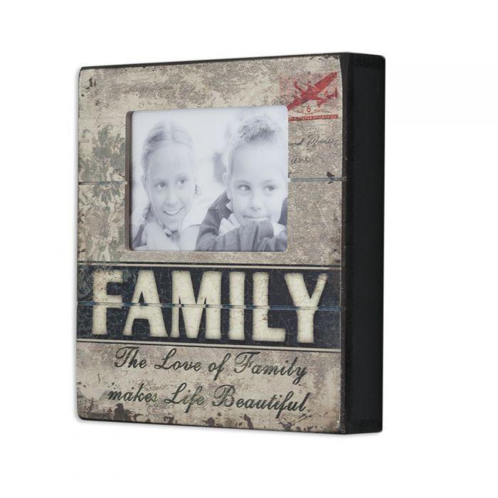 LANDHAUS HOLZ BILDERRAHMEN Family FOTORAHMEN VINTAGE SHABBY CHIC ...
