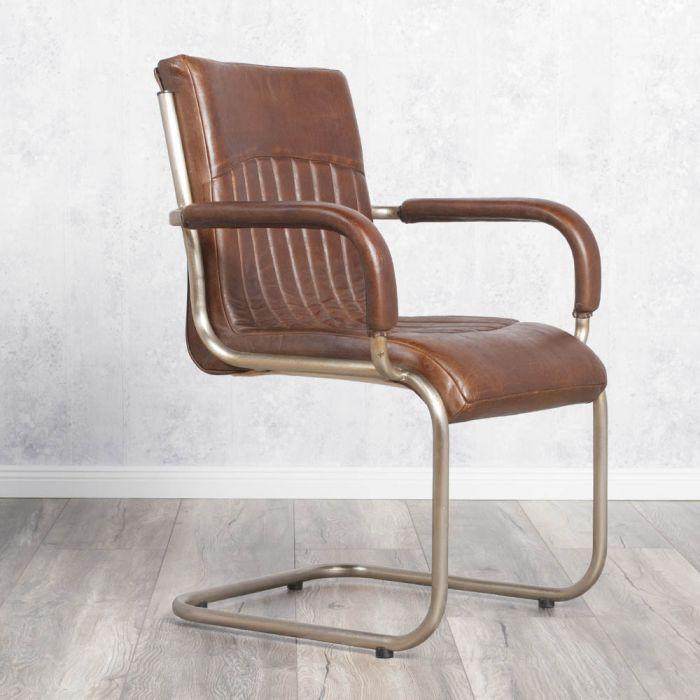 designer armlehnenstuhl freischwinger harris aus. Black Bedroom Furniture Sets. Home Design Ideas