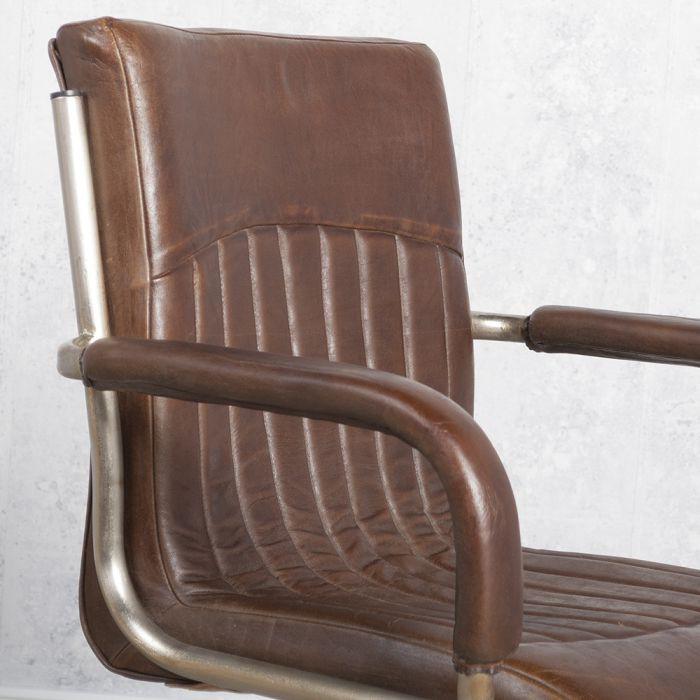 designer armlehnenstuhl freischwinger harris aus vollleder echtleder ebay. Black Bedroom Furniture Sets. Home Design Ideas