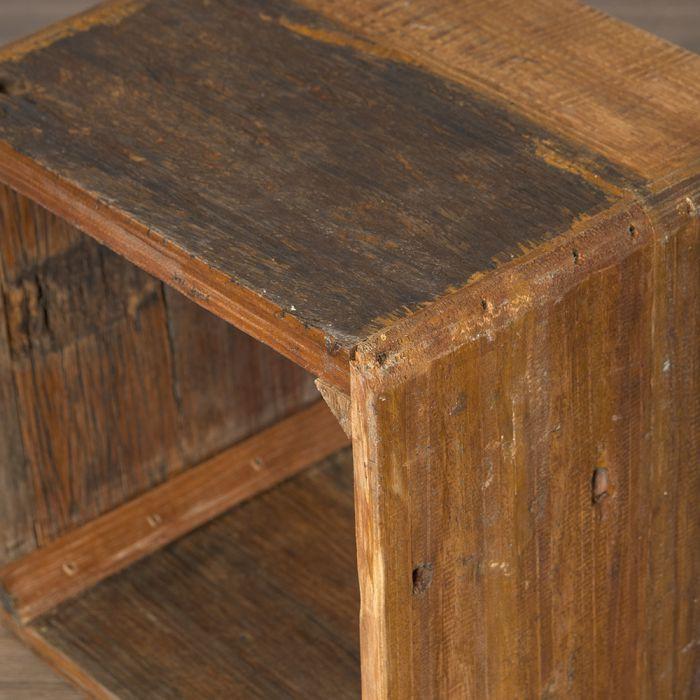 massivholz couchtisch cube leolo 43cm dark brown 5515. Black Bedroom Furniture Sets. Home Design Ideas