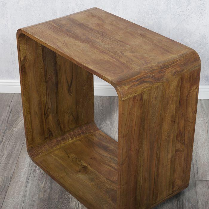 Beistelltisch cube anjuli 60x60cm akazienholz 5533 for Beistelltisch cube