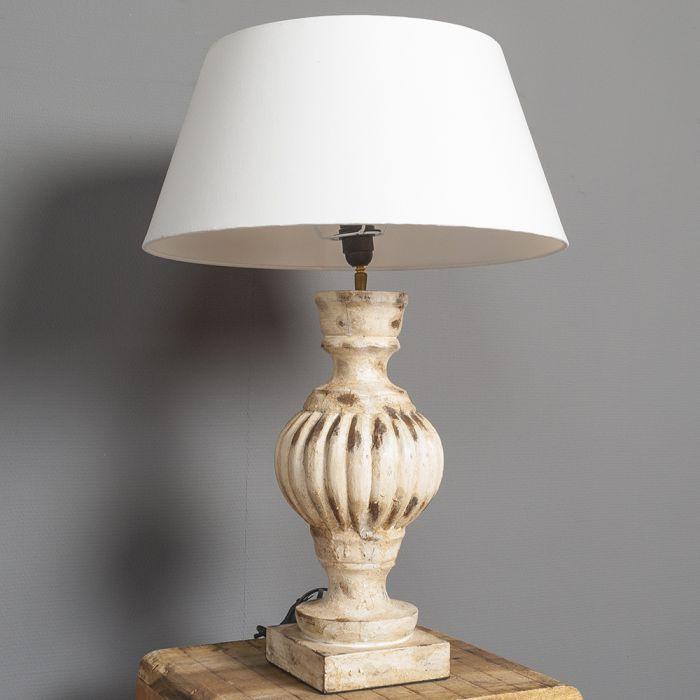 tischleuchte ethan barock stil antik tischlampe lampe aus holz objektleuchte dek ebay. Black Bedroom Furniture Sets. Home Design Ideas