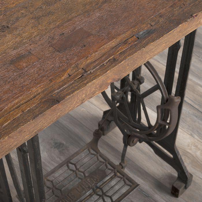 n hmaschienen konsolentisch konsole 120cm deko n hmaschiene wandtisch vintage ebay. Black Bedroom Furniture Sets. Home Design Ideas