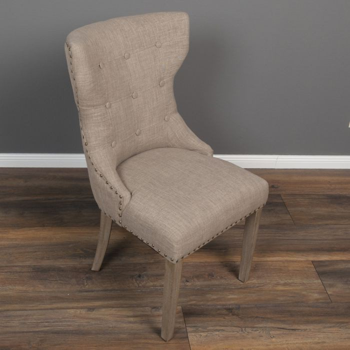 stuhl coban light brown leinenbezug stoffbezug k chenstuhl esszimmerstuhl 4251105607571 ebay. Black Bedroom Furniture Sets. Home Design Ideas