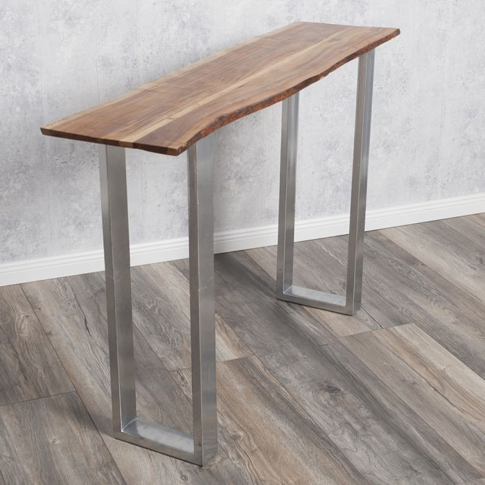 designer konsolentisch 120cm massivholz anrichte aksel kufengestell ablagetisch ebay. Black Bedroom Furniture Sets. Home Design Ideas