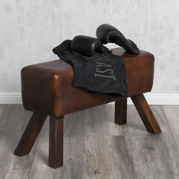 hocker turnbock maximo 76cm brown v echtleder leder clubhocker lederhocker fu ho ebay. Black Bedroom Furniture Sets. Home Design Ideas
