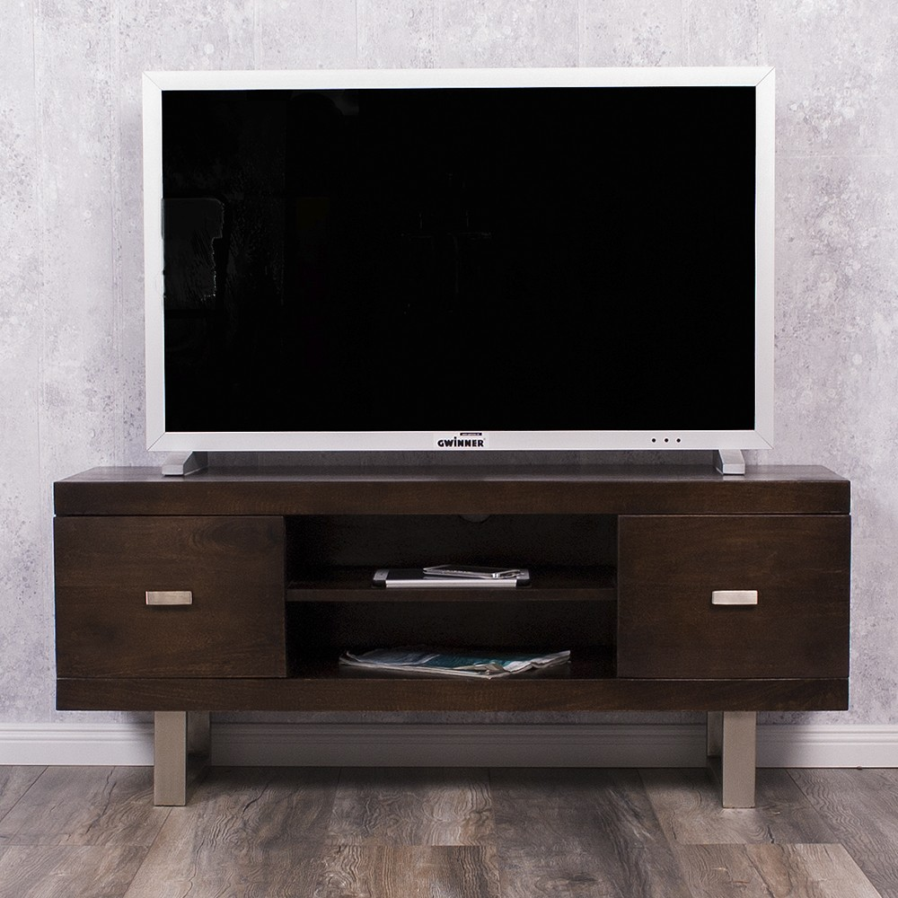 tv board laya walnut mangoholz massiv 120cm wohnzimmer lowboard 5613. Black Bedroom Furniture Sets. Home Design Ideas