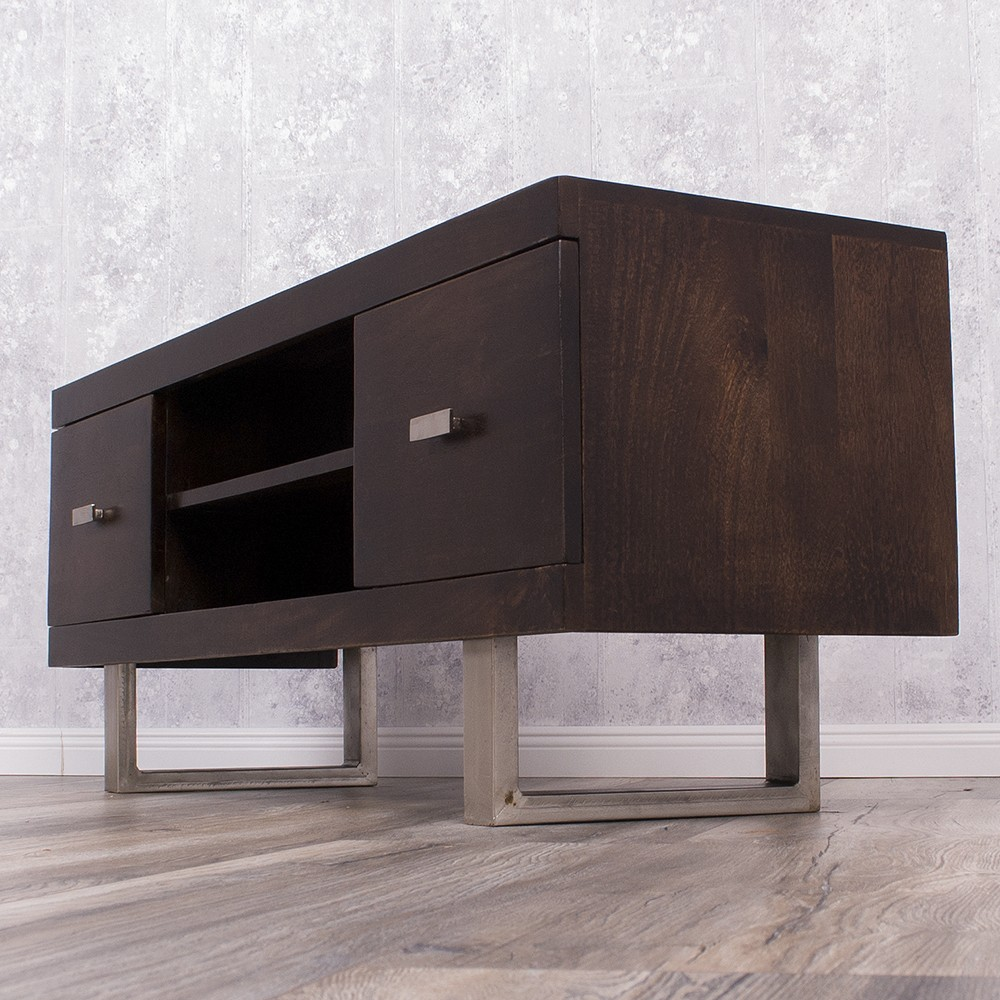 tv board laya walnut mangoholz massiv 120cm wohnzimmer. Black Bedroom Furniture Sets. Home Design Ideas