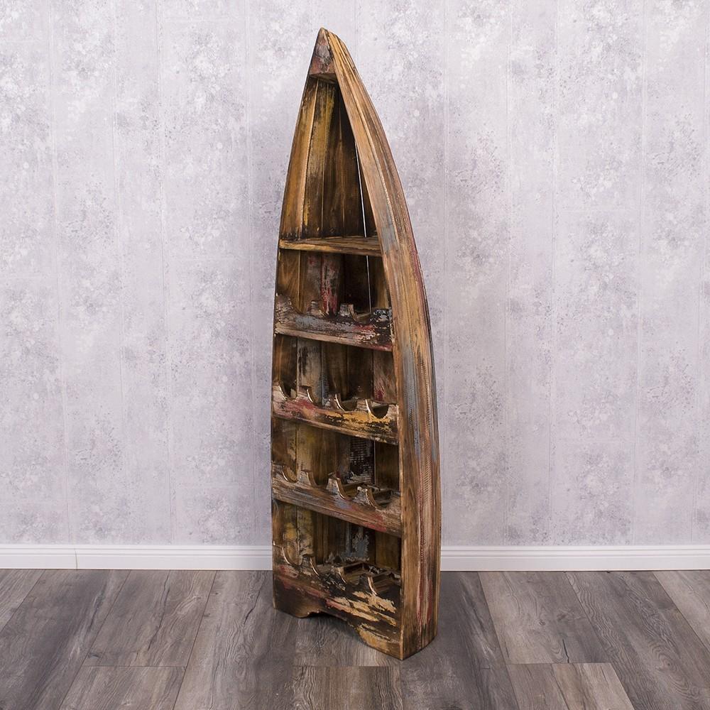bootsregal vino l 150cm farbe jungle dekoregal boot regal weinregal shabby ebay. Black Bedroom Furniture Sets. Home Design Ideas