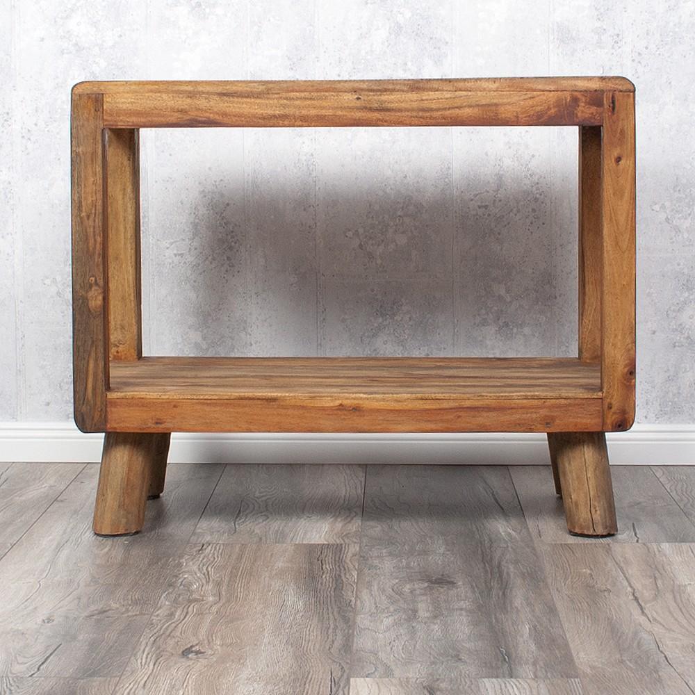 couchtisch tv board rewo 80cm massivholz rustic grey. Black Bedroom Furniture Sets. Home Design Ideas