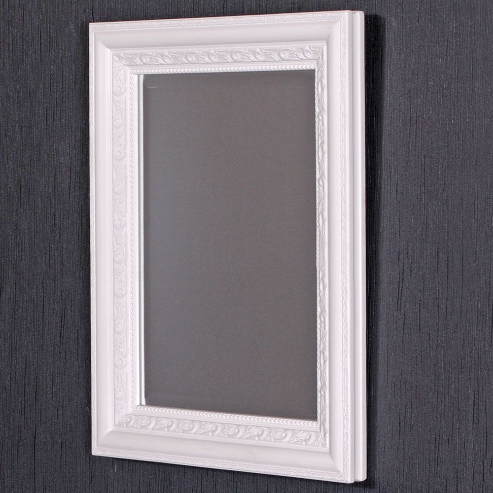 spiegel argento barock pur wei 90x70cm 5645. Black Bedroom Furniture Sets. Home Design Ideas