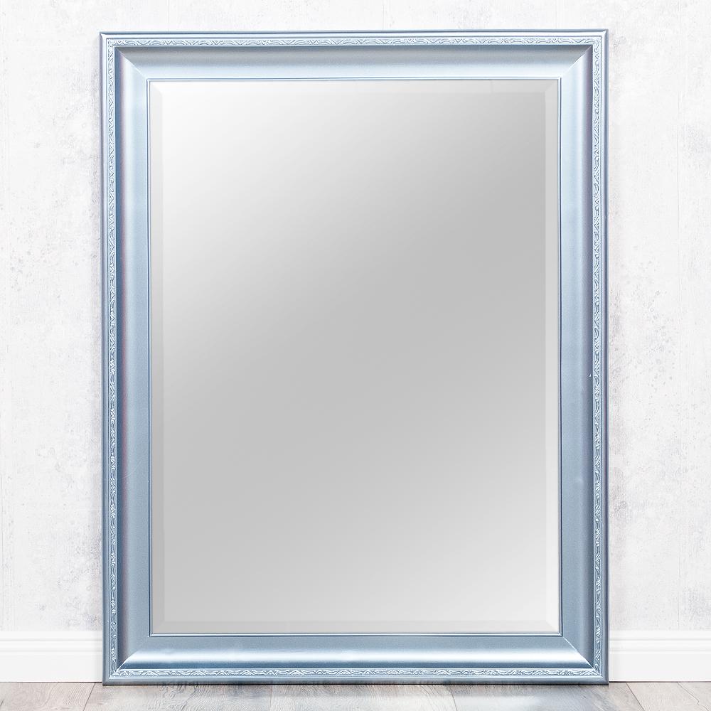 Spiegel copia 90x70cm frozen silber wandspiegel barock for Spiegel id