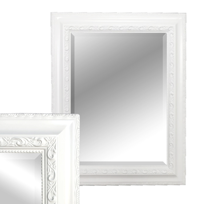 spiegel argenti barock pur wei 50x40cm 5702. Black Bedroom Furniture Sets. Home Design Ideas