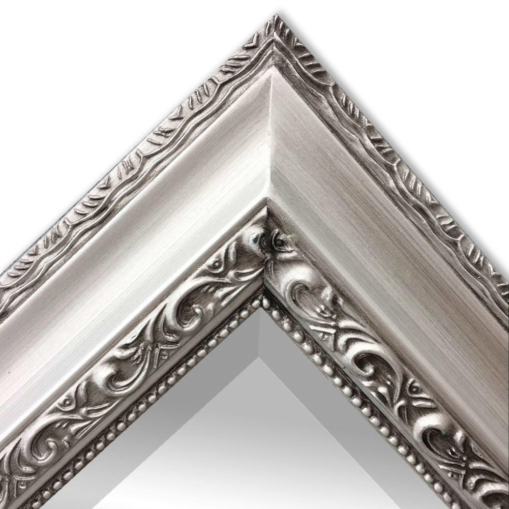 wandspiegel barock 90x70cm spiegel antik silber argenti holzrahmen und facette ebay. Black Bedroom Furniture Sets. Home Design Ideas