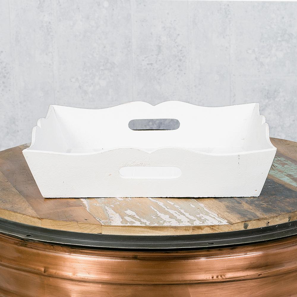 tablett leo wei shabby chic 40x40cm serviertablett dekotablett holz ebay. Black Bedroom Furniture Sets. Home Design Ideas