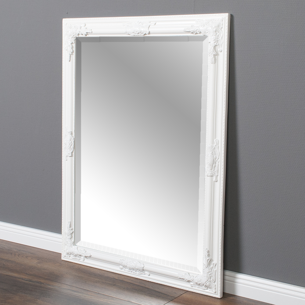 spiegel bessa barock wei pur 90x70cm 5735. Black Bedroom Furniture Sets. Home Design Ideas