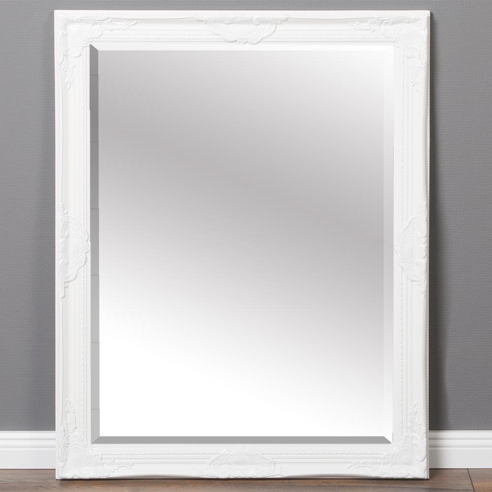 Spiegel LEANDOS barock weiß 90x70cm 5736