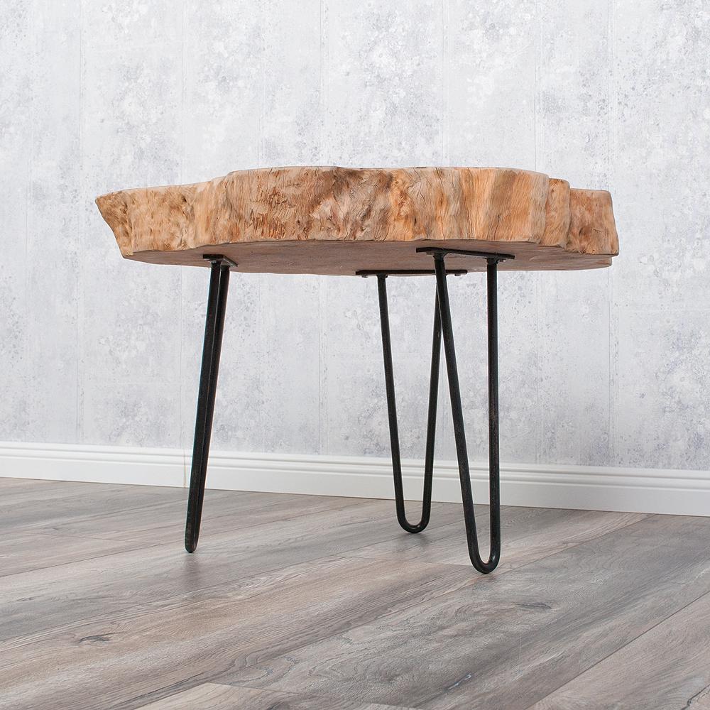 Designer beistelltisch lychee 8cm baumscheibe massivholz 5750 for Beistelltisch baumscheibe