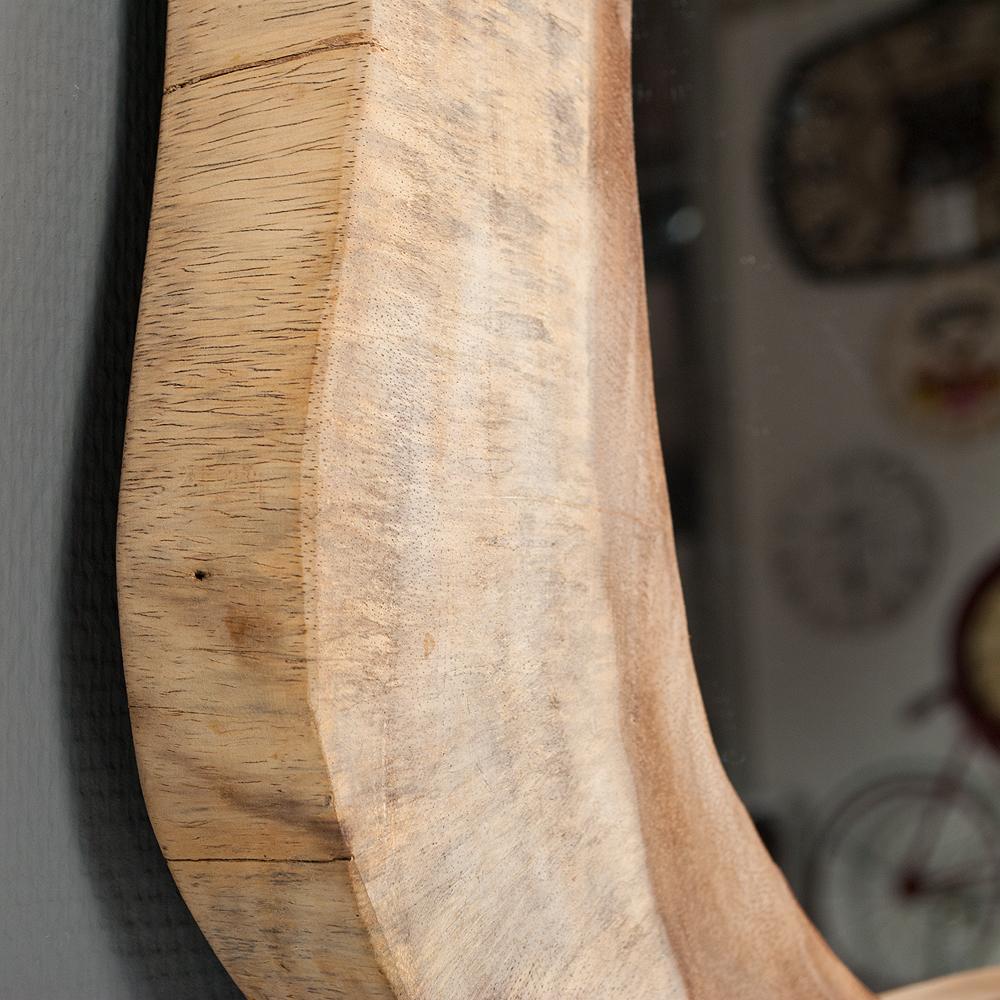 wandspiegel ombak aus massivem teakholz teak holz massivholz spiegel rund oval ebay. Black Bedroom Furniture Sets. Home Design Ideas