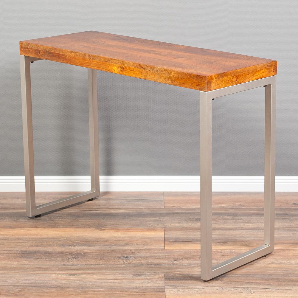 konsolentisch moda 100cm stone m anrichte schminktisch computertisch massivholz ebay. Black Bedroom Furniture Sets. Home Design Ideas