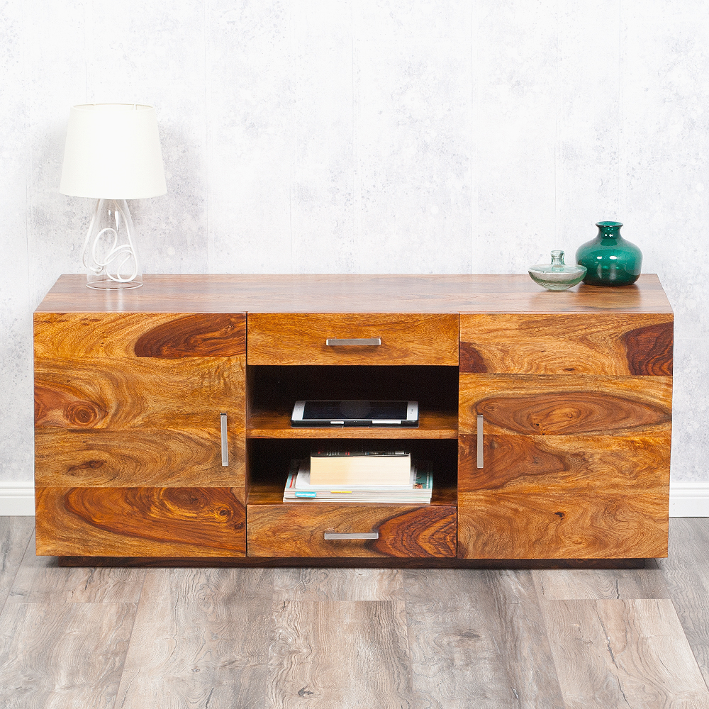 tv board block 120cm palisander sheesham stone m 6109. Black Bedroom Furniture Sets. Home Design Ideas
