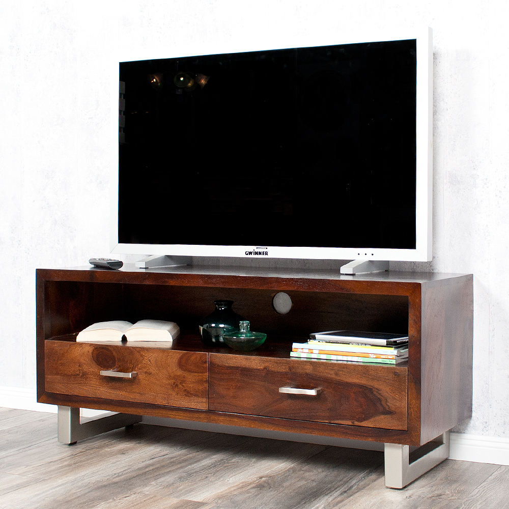 tv board moda 115cm palisander sheesham dark m 6112. Black Bedroom Furniture Sets. Home Design Ideas