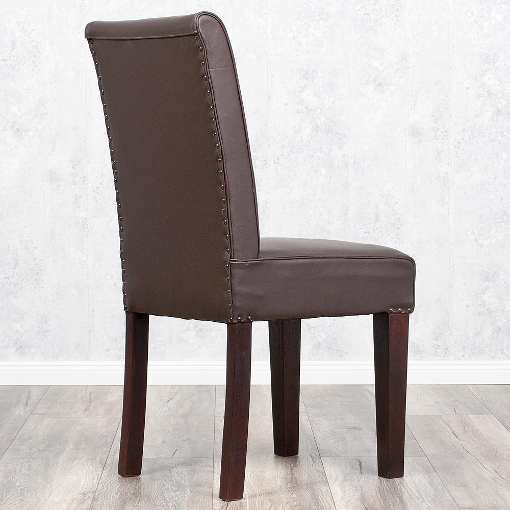 stuhl kurasee aus echtem b ffelleder in manish dark vollleder echtleder leder ebay. Black Bedroom Furniture Sets. Home Design Ideas
