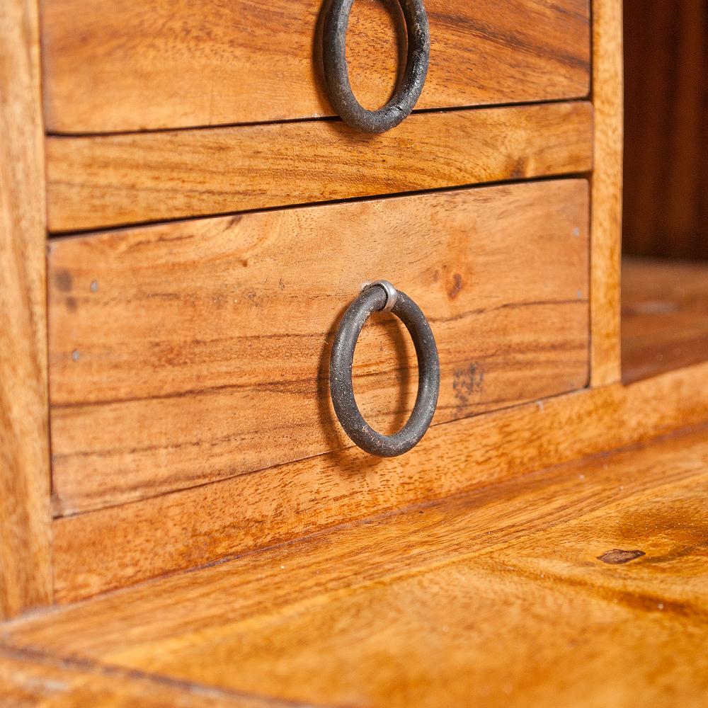 sekret r bombay massivholz akazie stone a schreibtisch. Black Bedroom Furniture Sets. Home Design Ideas