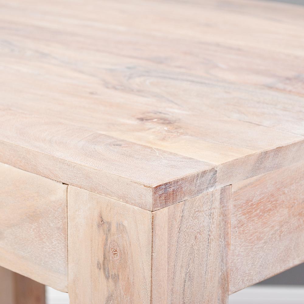 esstisch dambo 100x70cm white washed akazie massivholz. Black Bedroom Furniture Sets. Home Design Ideas