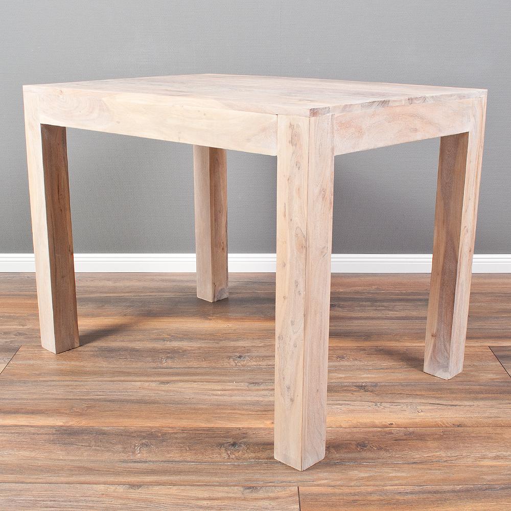 esstisch dambo 100x70cm white washed akazie massivholz k chentisch esstisch holz ebay. Black Bedroom Furniture Sets. Home Design Ideas