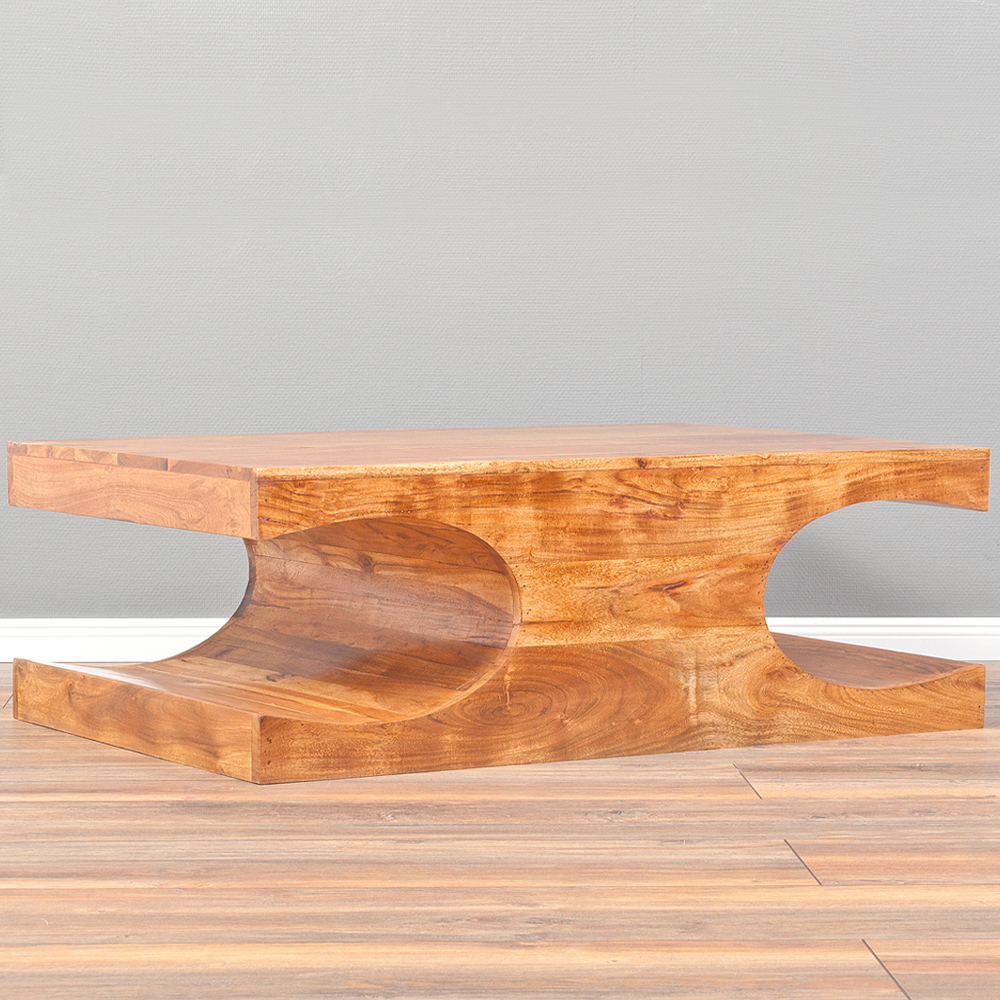 couchtisch lahar akazie stone a 120x70cm massivholz design. Black Bedroom Furniture Sets. Home Design Ideas