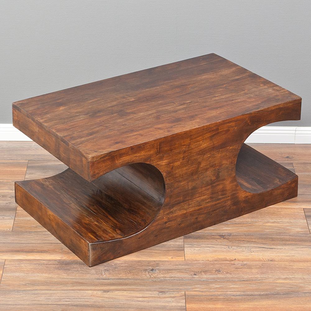 Couchtisch lahar akazie dark brown a 90x60cm massivholz 6170 for Couchtisch akazie