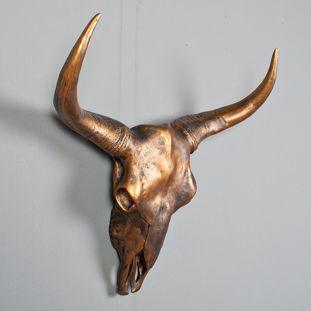 b ffelsch del george gold stiersch del wanddekoration bullensch del wand figur ebay. Black Bedroom Furniture Sets. Home Design Ideas