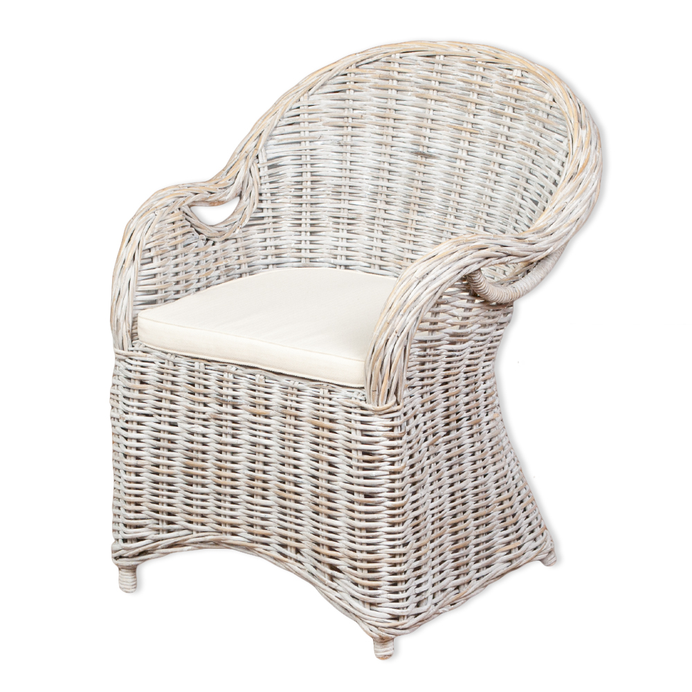 rattan sessel charlotte white washed inkl sitzkissen 6209. Black Bedroom Furniture Sets. Home Design Ideas