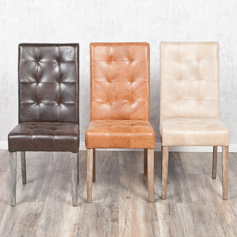 echtleder stuhl noble dark brown esszimmerstuhl vollleder leder gesteppt ebay. Black Bedroom Furniture Sets. Home Design Ideas