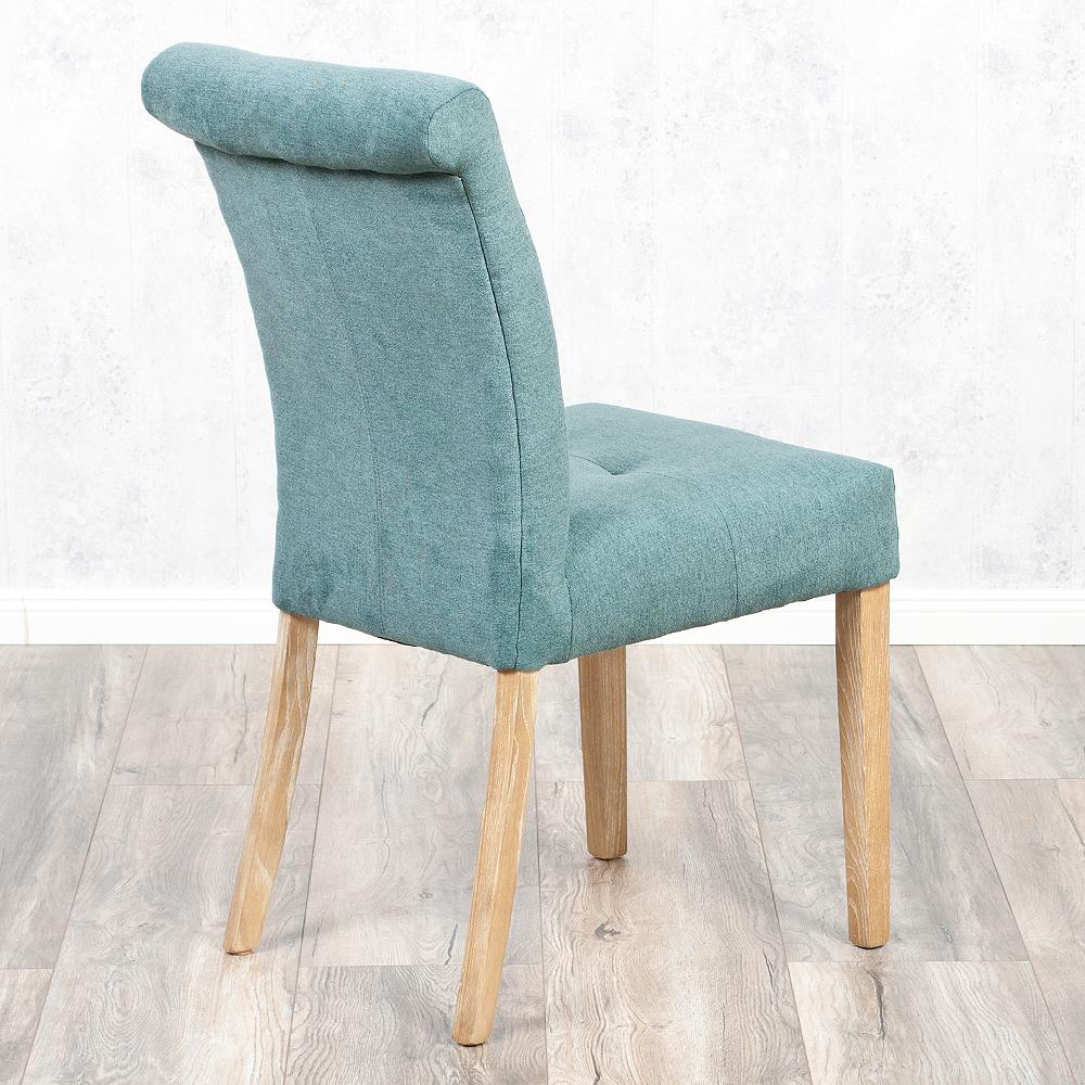 stuhl castle petrol esszimmerstuhl stoff bezug gesteppt holzgestell ebay. Black Bedroom Furniture Sets. Home Design Ideas