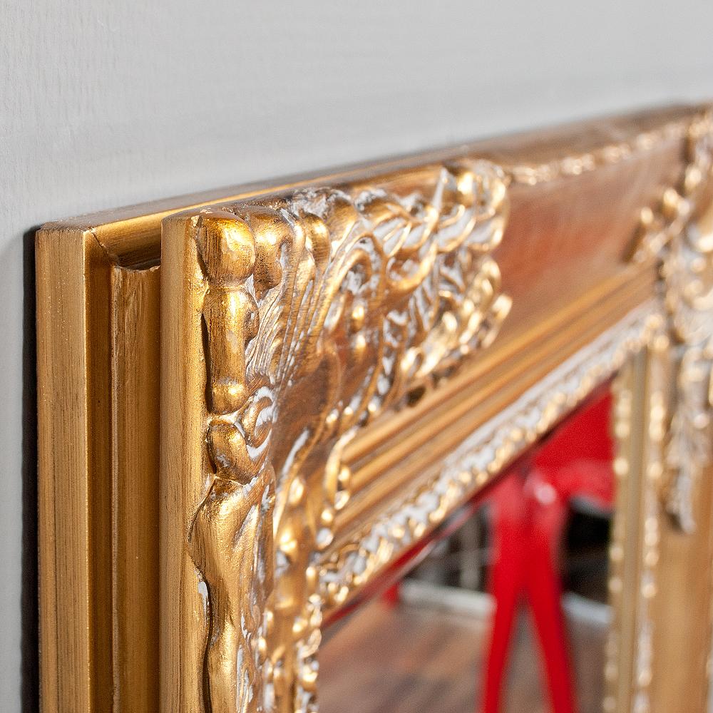 spiegel marlon xl gold 180x100cm wandspiegel pomp s barock holzrahmen facette ebay. Black Bedroom Furniture Sets. Home Design Ideas