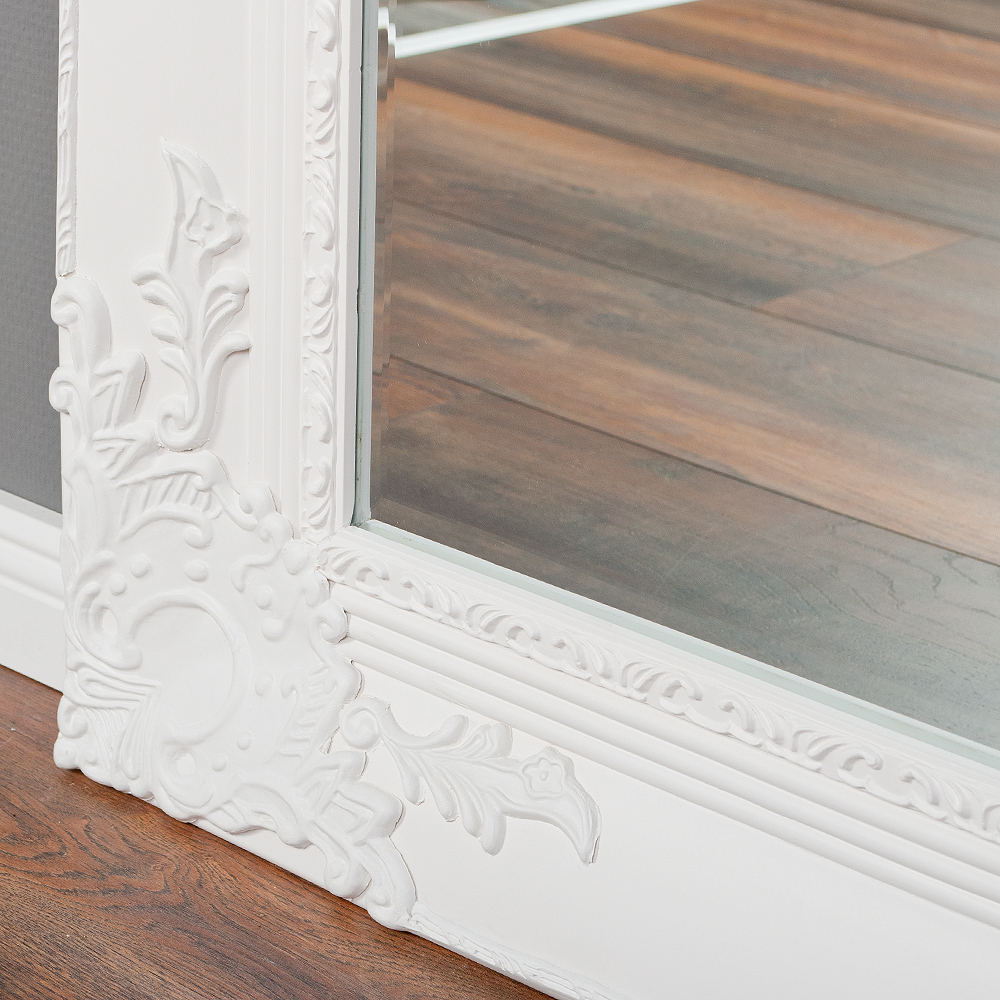 spiegel marlon xxl weiss pur 200x110cm wandspiegel barock holzrahmen facette ebay. Black Bedroom Furniture Sets. Home Design Ideas