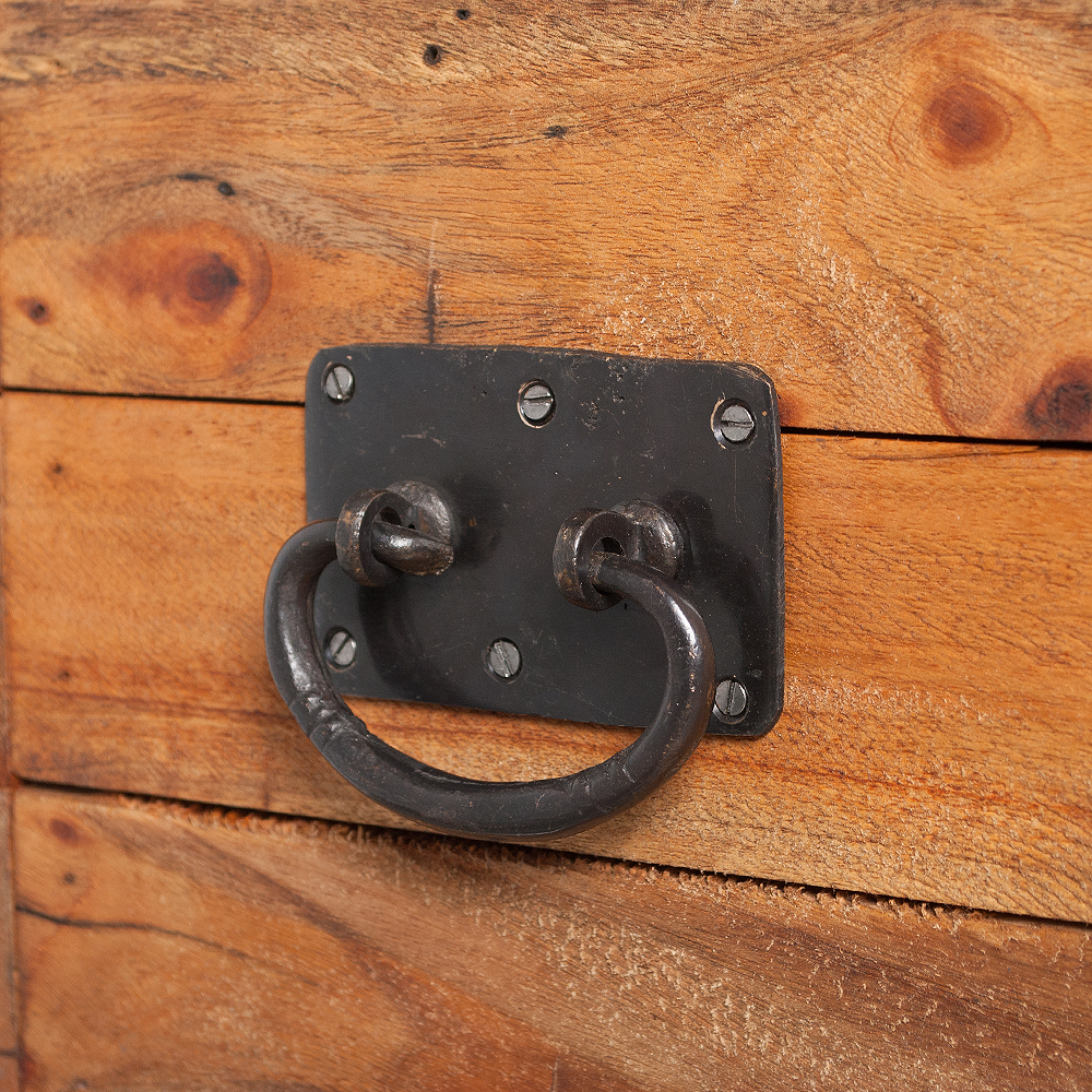 truhe tini natural 40cm recycled wood holz holztruhe holzkiste couchtisch ebay. Black Bedroom Furniture Sets. Home Design Ideas